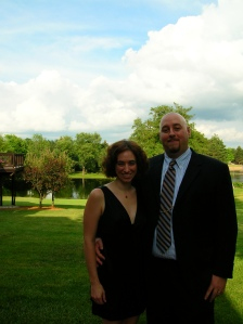 Dave and I at a friend's wedding, July 2008